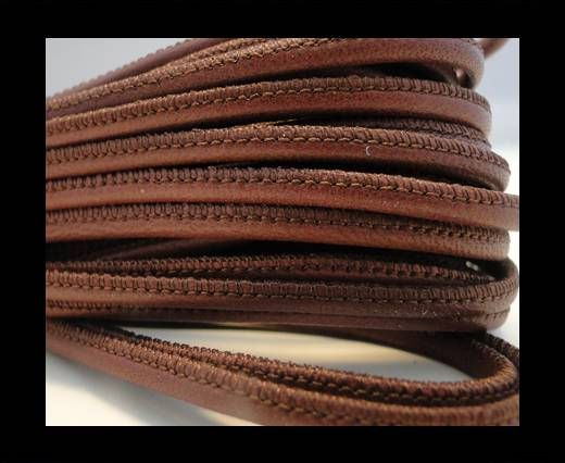Round stitched nappa leather cord Light Bordeaux-2,5mm