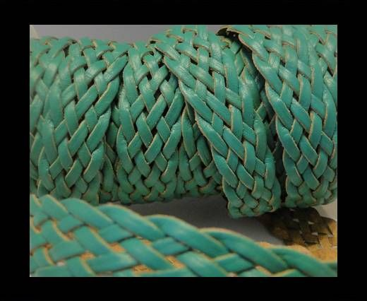 Corde plate tressée - Style 4 - 18mm - Vert