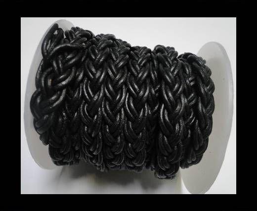 Flat Braided Cords-10MM- Twist Style- Black
