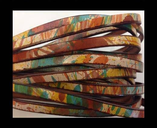 Flat Leather 5mm - multi color 5