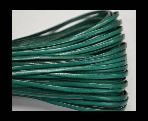 Flat leather - 3 mm - Turquoise