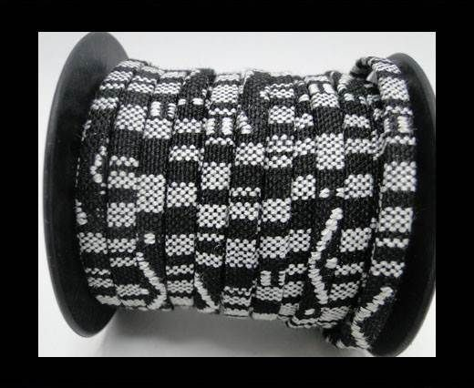Flat multicolor Fabric cord-5mm-Color 9