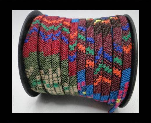 Flat multicolor Fabric cord-5mm-Color 11