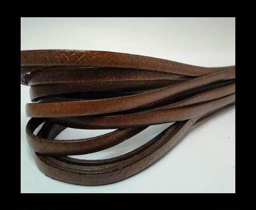 Flat Nappa Leather Snake Style 5MM - Tan
