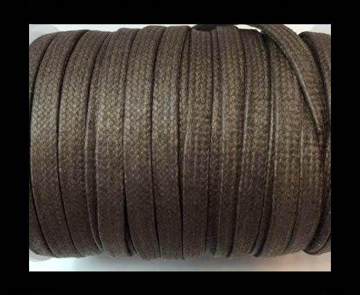 Flat Wax Cotton Cords - 5mm  - Grey