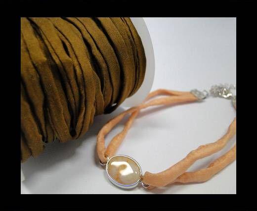 Habotai silk cords - Coffee