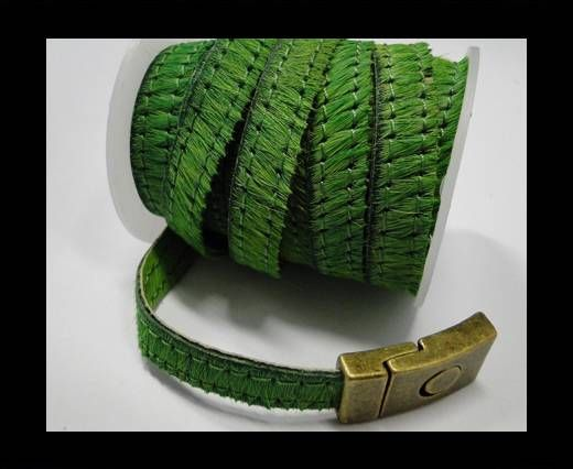 Hair-On-Flat Leather- Light Green-10MM