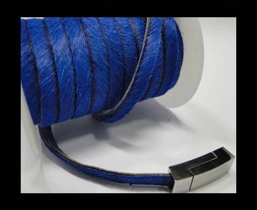 Hair-On Flat Leather-Dark Blue-5MM
