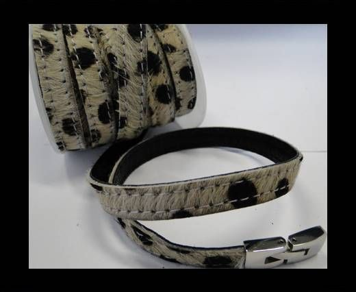 Hair-On Leather with Stitch- Dalmatian-10mm