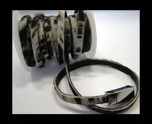 Hair-On Leather- White Zebra-5mm