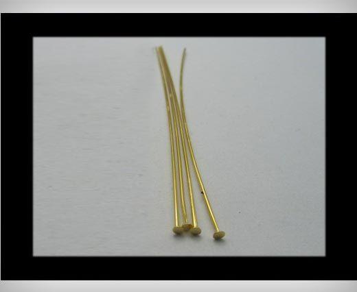 Head Pins FI7022-Gold-40mm