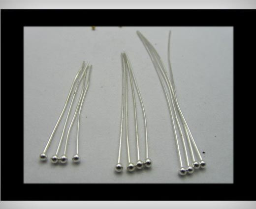 Head Pins FI7023-Silver-40mmx2mm