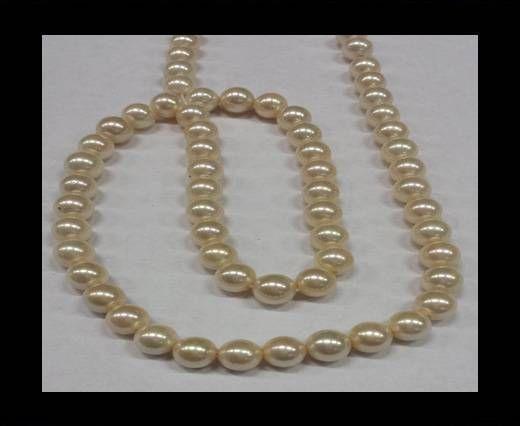 High quality pearls 6 mm Cream