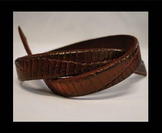 Italian Flat Leather-Crocodile