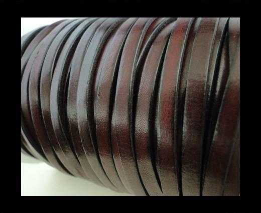Flat Leather 5mm - Maroon