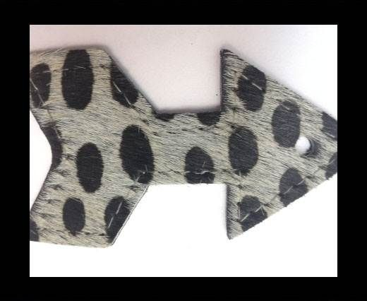 KC-Key Cord Arrow Shape 8cm dalmata grey hair-on