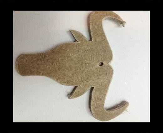 KC-Key Cord Buffalo Heads 7cm - Beige