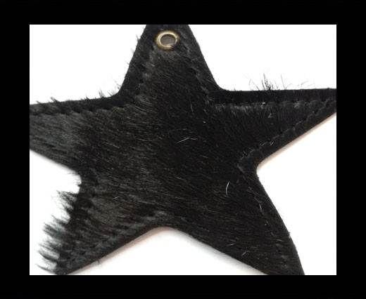 KC-Key Cord Star Shape 8cm black hair-on