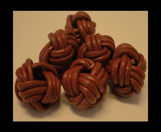 Leather Beads -12mm-Light Brown