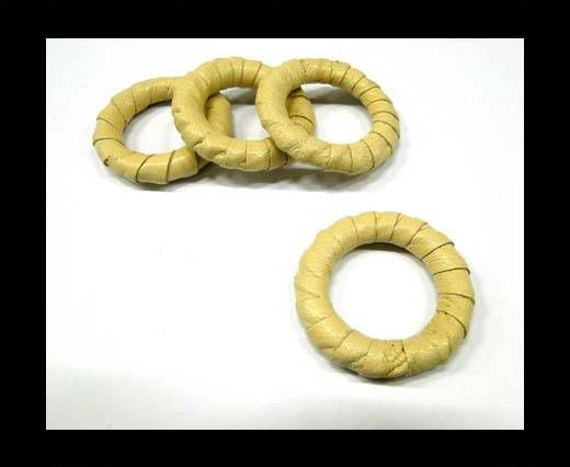 Leather Rings-Beige-34mm