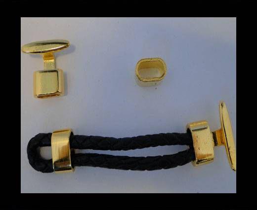 Fermoirs pour cuir/corde - ZAML 12 - Doré
