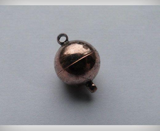 Fermoir magnétique - Cuivre antique - 10mm