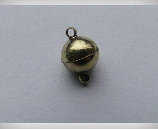 Fermoir magnétique - Doré antique - 10mm