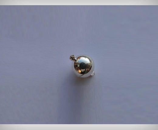 Fermoir magnétique - Argent antique - 10mm