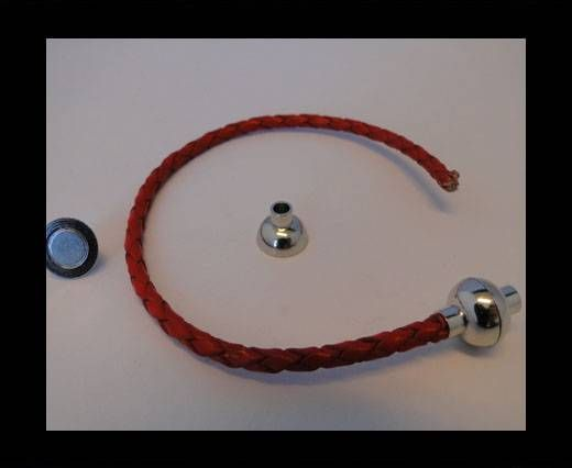 Fermoir magnétique - MGL4 - 3mm - Argent antique