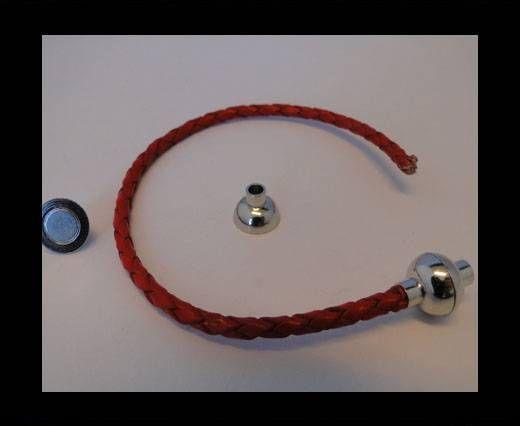 Fermoir magnétique - MGL4 - 8mm - Argent antique