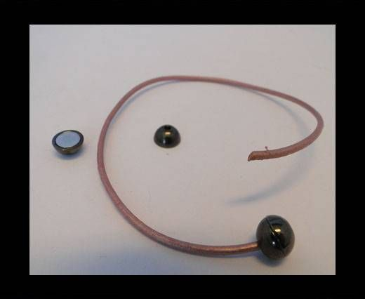 Fermoir magnétique - MGL5 - 7mm - Noir