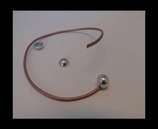 Fermoir magnétique - MGL5 - 7mm - Argent