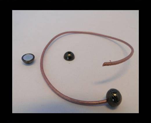 Fermoir magnétique - MGL5 - 2mm - Noir