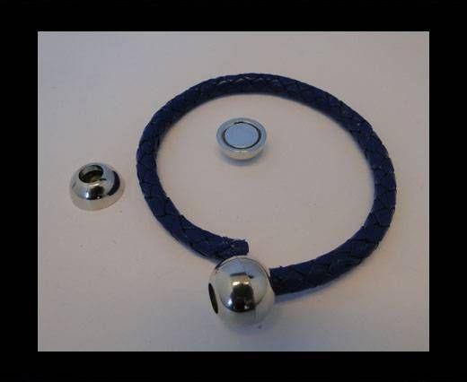 Fermoir magnétique - MGL5 - 2mm - Argent antique