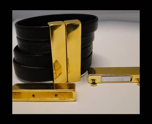 Fermoir magnétique pour cuir - MGL109 - 35*4mm - Doré