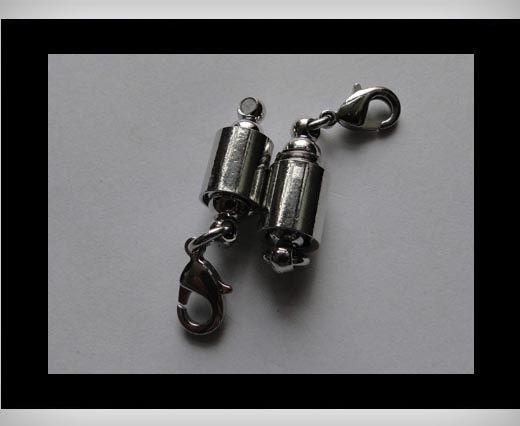 Brass clasp MG10-22mm-Silver