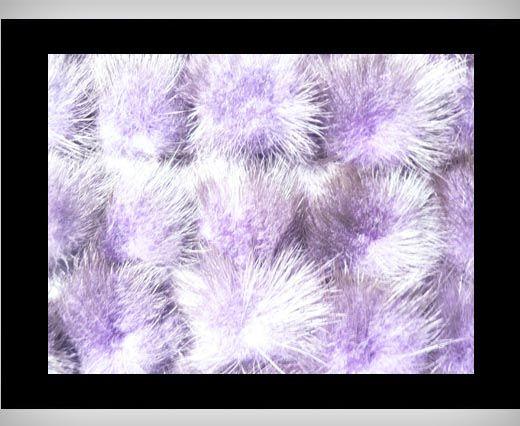 Pompon de vison - Violet clair
