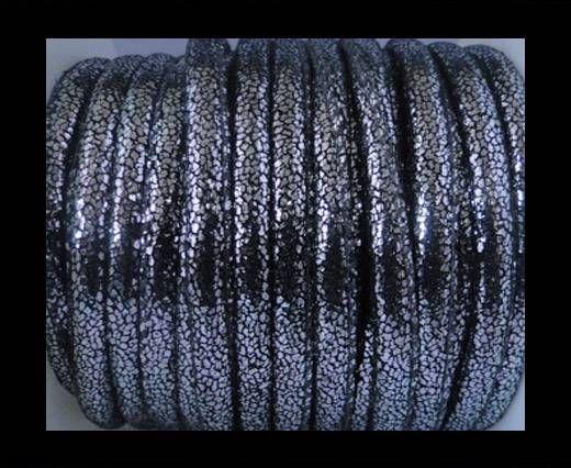 Cuir Nappa - 6mm - Glitter - Argent