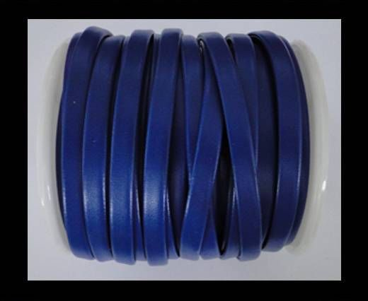 Cuir plat nappa éco - 5mm - Bleu saphir