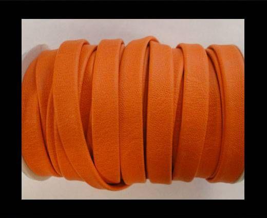 Cuir plat nappa éco - 10mm - Orange
