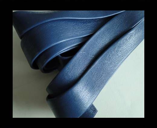 Nappa Leather Flat-Blue-20mm