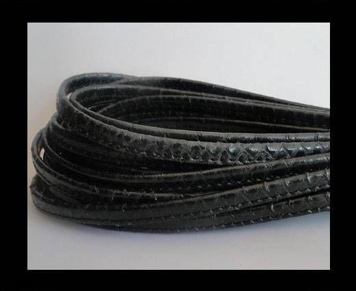 Cuir Nappa - Sewn - 7mm - Noir Honduran King Snake