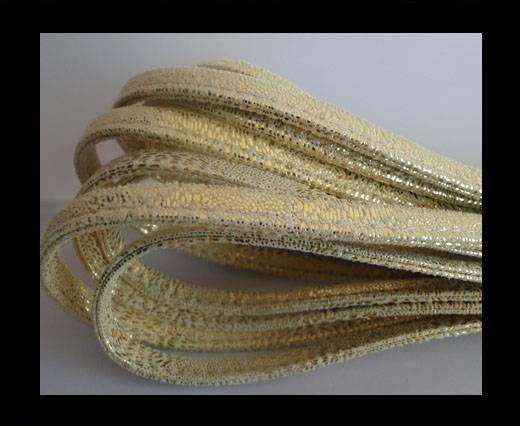 Cuir Nappa - Sewn - 7mm - Or King Snake