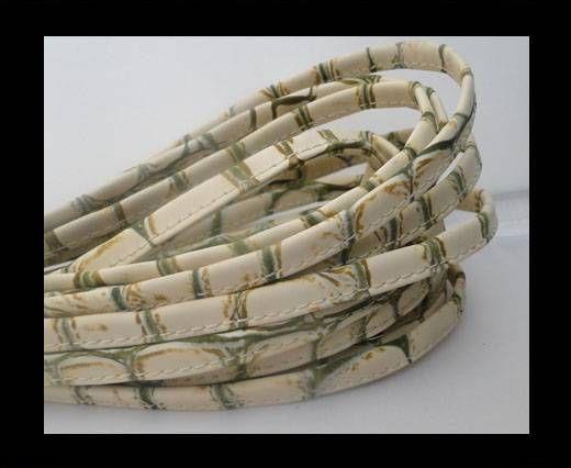 Cuir Nappa - Sewn - 7mm - Clair Grass Snake