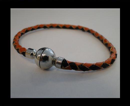 Bracelet en cuir avec fermoir non inoxydable - MLBSP-10