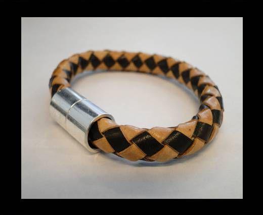 Bracelet en cuir avec fermoir non inoxydable - MLBSP-3