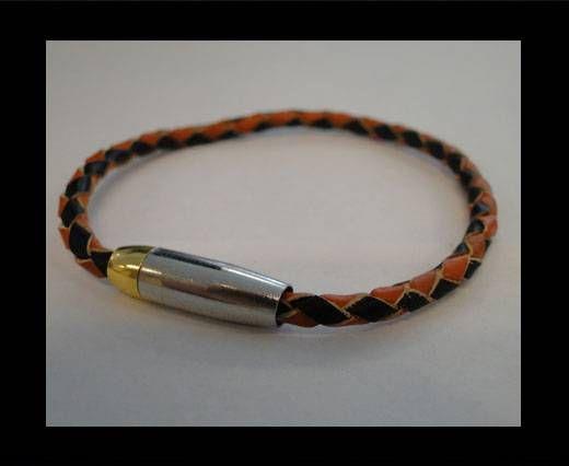 Bracelet en cuir avec fermoir non inoxydable - MLBSP-7