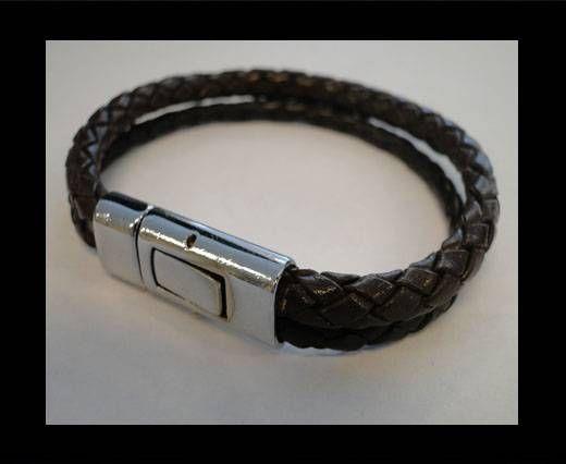 Bracelet en cuir avec fermoir non inoxydable - MLBSP-9