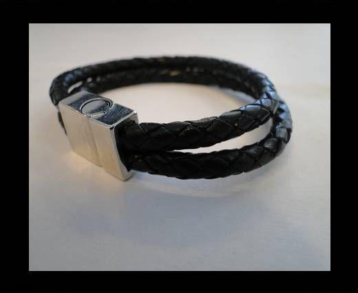 Bracelet en cuir avec fermoir non inoxydable - MLBSP-17