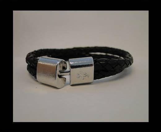 Bracelet en cuir avec fermoir non inoxydable - MLBSP-23